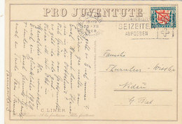 PJ-Marke Auf PJ-Karte - Sign. Liner - 1928        (P-118-60806) - Pro Juventute