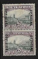 S.Africa 1931; , 2d Opt OFFICIAL, Vertical Pair    C.d.s Used - Zuid-Afrika (...-1961)
