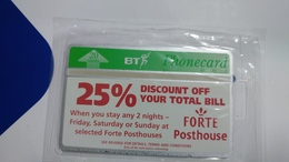 United Kingdom-(bta085)-forte Posthouse Discount-(20units)-(581c)-price Cataloge6.00£-card+1card Prepiad Free - BT Advertising Issues