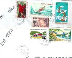 POLYNESIE Lot De 10 Lettres 1971 - 1972 - Collections, Lots & Séries