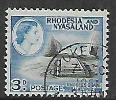Rhodesia & Nyasaland, BROKEN H(ILL) On 3d - Rhodesia & Nyasaland (1954-1963)