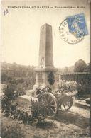 Cp FONTAINES SAINT MARTIN 69 - 1929 - Monument Aux Morts - Otros Municipios
