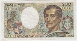 FRANCE 200 Francs 1983 P155a 70/03 VF- E.017 - 1962-1997 ''Francs''