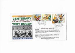 FDC Centenaire Des Tests Match De Rugby En Australie 8 Juin 1999 - Rugby