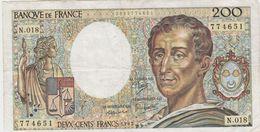 FRANCE 200 Francs 1983 P155a 70/03 VF- N.018 - 1962-1997 ''Francs''