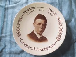 Assiette Charles Lindberg - Sarreguemines (FRA)