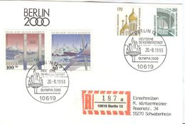 GERMANY Registered Card Berlin Candidate Olympic Games 2000 With Cancel Candidate Olympia 2000 - Summer 2000: Sydney