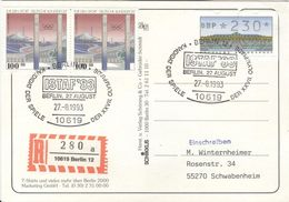 GERMANY Registered Postcard Berlin Candidate Olympic Games 2000 With Cancel ISTAF 93 Candidate Olympia 2000 - Summer 2000: Sydney