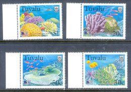 A220- Tuvalu 1998 Marine Life. Coral Reef. - Vita Acquatica