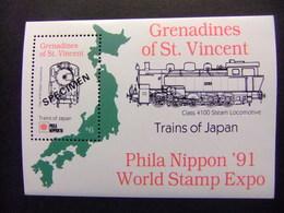 GRENADINES Of ST. VINCENT 1991 LOCOMOTORA Locomotive Classe 4100 Yvert Bloc 50 SPECIMEN ** MNH - St.Vincent Y Las Granadinas