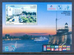 A224- Cuba 2014 Havana Harbour View. Morro Castle. Flag - Ships