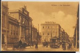 Roma 1910, Via Nazionale, Très Animée - Transports