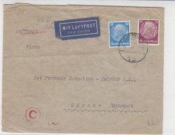 Zensur Luftpostbrief Aus STETTIN 14.8.40 Nach Odense / Dänemark - Deutschland