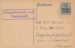 Entier Postal Belgique, Poste Militaire, Scan R/V. - Zone Belge