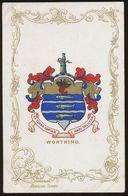 Ja Ja Heraldic Series Postcard : Worthing (coat Of Arms, Crest) +/- 1905 - United Kingdom