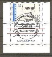 FRANCE :1991 Y T  N° 2686 Oblitéré  Vignette Bas De Carnet (René Char) - France