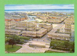 CPSM FRANCE 76  ~  LE HAVRE  ~  47  Vue Aérienne  ( Bellevues Dentelée 50/60 )  2 Scans - Le Havre