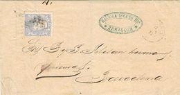 27706. Carta Entera ZARAGOZA 1871. Alegoria. Comercial Garriga Nogues - Cartas