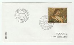 SAN MARINO / JAPAN  Tokyo Philatelic Exhibition EVENT COVER Franked BRAMANTE Stamps Art Architecture - San Marino