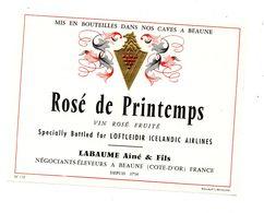 Vin Rosé De Printemps Icelandic AIRLINES  Labaume Ainé - Bourgogne