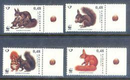 A252- Slovenia 2007 Slowenien WWF. World Wide Conservation European Squirrel  Eichhörnchen. - W.W.F.