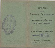 Militaria/Union Des Anciens Prisonniers Et Victimes De Guerre De La Région Parisienne/Léonce Lagasse/PANTIN/1937  AEC107 - Documents