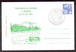 D45  Filatelistic Exhibition In Petrinja International Olympic Committee Day 1987 - Stadion  Mladost - Kroatië