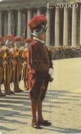 11750-CARTA TELEFONICA PREPAGATA L.20.000 - VATICANO - GIUBILEO - GUARDIA SVIZZERA - SCADUTA - Vatican