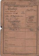 Militaria/Carte D'Identité D'Homme De Troupe/ Modéle N° 5 / Marcel QUILLET//Vers 1920          AEC108 - Documents