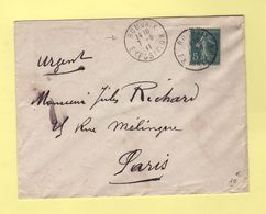 Type Semeuse - Roubaix Exposition - 7-8-1911 - 1877-1920: Période Semi Moderne