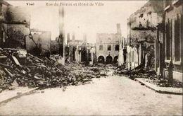 VISE - Rue Du Perron Et Hôtel De Ville - Guerre 14-18 - Visé