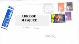 Lettre Voyagé De La France Pour La Suisse Oblitéré De Vesoul Du 23/ 12/ 1998 Tp Marianne Du 14 Juillet Y&T N°3089, 3086, - France