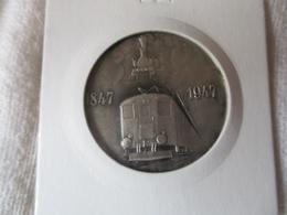Suisse: Médaille Centenaire Des Chemins De Fer 1947 - Professionnels / De Société