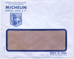 Pub Michelin : Enveloppe à Fenétre . - Publicités