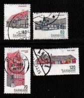 DENMARK, 1972, Used Stamp(s), Buildings, MI 536-539, #10110 Complete - Denmark