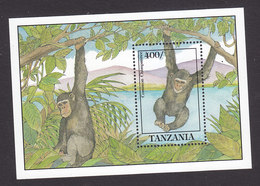 Tanzania, Scott #860, Mint Never Hinged, Chimpanzee, Issued 1992 - Tanzania (1964-...)