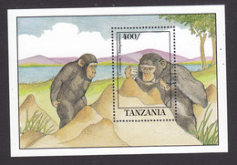 Tanzania, Scott #861, Mint Never Hinged, Chimpanzee, Issued 1992 - Tanzania (1964-...)