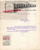 93- MONTREUIL SOUS BOIS- RARE FACTURE LEON DOME-MECANICIEN-FABRIQUE ACCESOIRES CYCLES-VELO-1921 - Transport