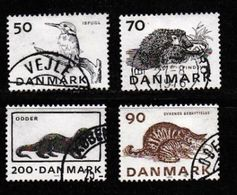 DENMARK, 1975, Used Stamp(s), Endangered Animals,  MI 602-606, #10125, 4 Values Only - Denmark