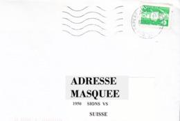 Lettre Voyagé De La France Pour La Suisse Oblitéré De Perpignan Du 27/ 06/ 1997 Tp  Marianne Du Bicentenaire Y&T N° 3005 - France