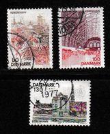 DENMARK, 1976, Used Stamp(s), Kopenhagen,  MI 617-620, #10128, 3 Values Only - Denmark