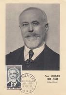 FRANCE - CARTE MAXIMUM PAUL DUKAS - CACHET ROND 1er JOUR 13.2.65 PARIS  / 1 - Maximumkarten