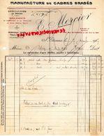 42- SAINT ETIENNE- 1927- RARE FACTURE E. MERCIER-MANUFACTURE CADRES BRASES POUR CYCLES-CYCLE- VELO-CYCLISME- - Transport