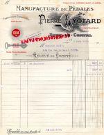 42- SURY LE COMTAL- RARE FACTURE PIERRE LYOTARD-MANUFACTURE DE PEDALES DEA-1928- POUR CYCLES-CYCLE- VELO-CYCLISME- - Transport