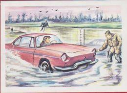 Chromo Chocolade Jacques Auto Voiture Car 1962 Nr. 40 L'etancheite - Waterdichtheid - Jacques