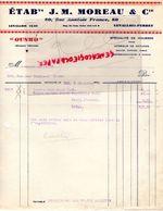 92- LEVALLOIS PERRET- RARE FACTURE ETS. J.M. MOREAU-80 RUE ANATOLE FRANCE-OUSMO-SPECIALITE HOUSSES VOITURES AUTOMOBILES- - Cars