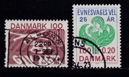 DENMARK, 1977, Used Stamp(s), Various Stamps,  MI 637-638, #10133, 2 Values - Denmark
