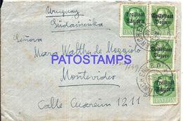 90269 GERMANY MUNCHEN COVER CIRCULATED TO URUGUAY NO POSTAL POSTCARD - Sin Clasificación
