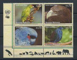 Nations Unis (Vienne) N° 740/43** (MNH) 2011 - Animales Menacées D'extinction - Oiseaux