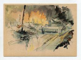 GERMANY POSTCARD ...WEITER ROLLT DER ANGRIFF PANZER WWII - Oorlog 1939-45